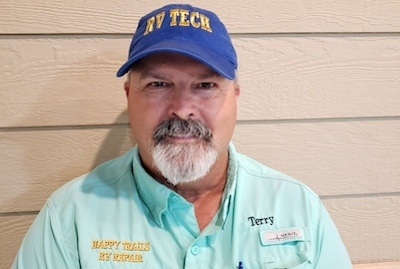 A headshot photo of Terry Lewis, instructor at the National RV Training Academy.