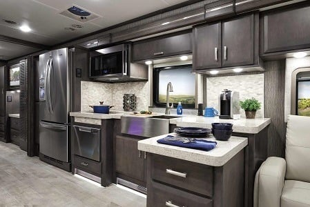 A picture of the 2021 Thor Motor Coach Tuscany 45MX kitchen