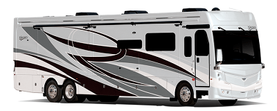A picture of the Discovery LXE anniversary edition motor home