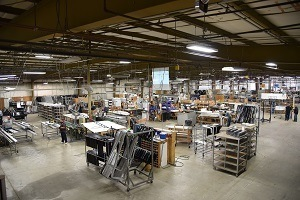 A picture of the Challenger Door production facility