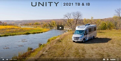 A thumbnail picture of the beginning of a video on the Leisure Travel Unity model for 2021