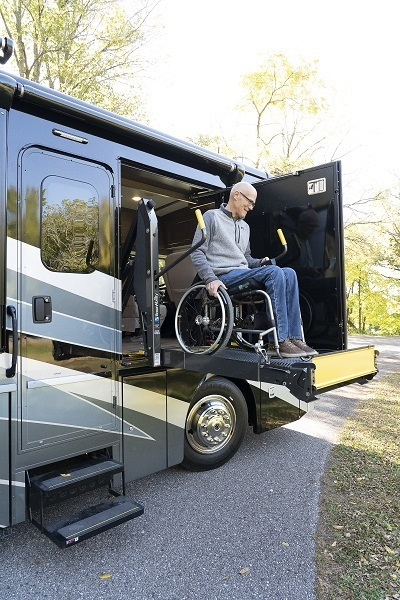A picture of Winnebago's 2021 Accessibility Enhanced RV line