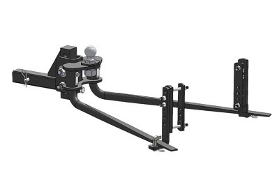 A picture of the Blue Ox weight distribution hitch