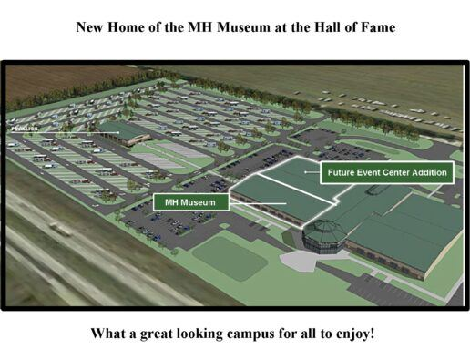 A picture of a birds eye view of RV/MH Hall of Fame with new additions
