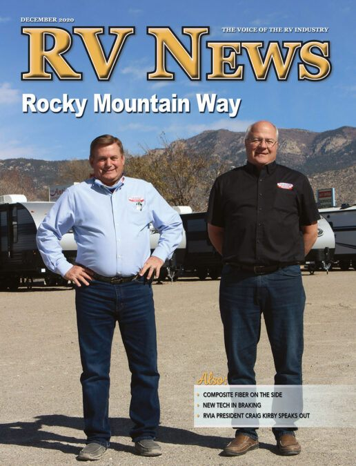 A picture of the cover of the RV News December 2020 magazine