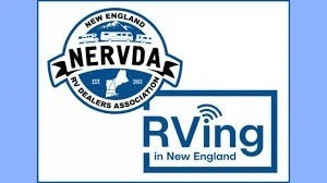 A picture of NERVDA and RVing in New England logos