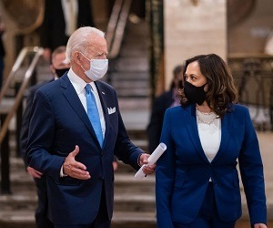 A picture of President Joe Biden and Vice President Kamala Harris