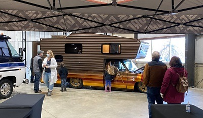 A picture of Brown Sugar at the West Michigan RV show