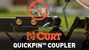 A picture of the CURT quickpin coupler