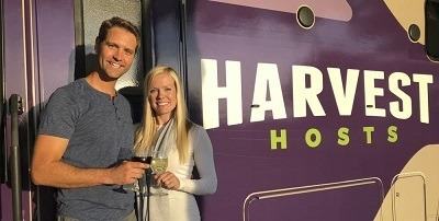 A picture of Harvest Host founders Joel Holland and Mary Ashley
