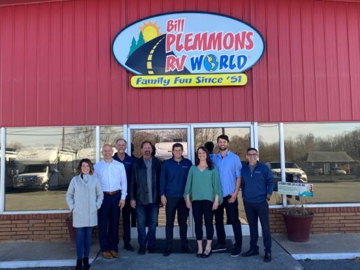 A picture of Bill Plemmons RV World staff with RV Retailer after Bill Plemmons RV World was sold