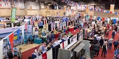 A picture of the exhibitor floor at the 2021 Tampa RV SuperShow