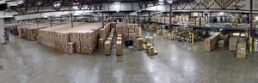 An interior picture of the new Way warehouse in Michigan