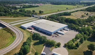 A picture of the exterior of the new Way warehouse in Michigan