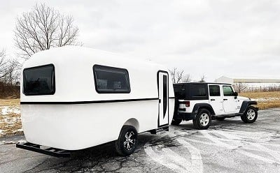 A picture of Cortes Campers 17-foot travel trailer