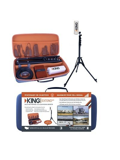 A picture of the KING ExtendPro packaging and travel case