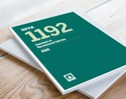 A picture of the NFPA 1192 standards for RVs handbook
