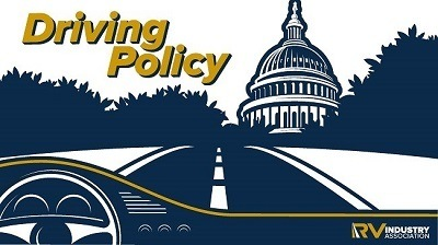 A picture of the Driving Policy webinar promo for RVIA