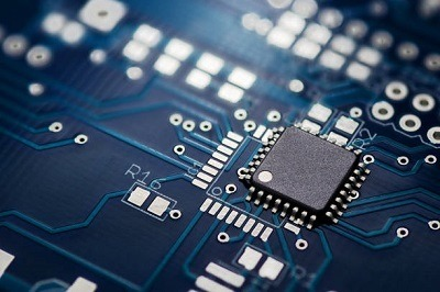A picture of a semiconductor chip