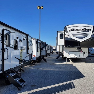 A picture of the York Pennsylvania RV show 2021