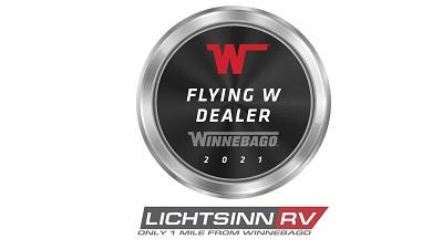 A picture of Winnebago's Flying W award for Lichtsinn RV