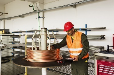 A picture of a general man producing copper metal