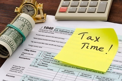 A picture of general taxes, tax season