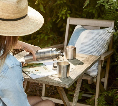 A picture of the Airstream and Pottery Barn partnership tumbler product