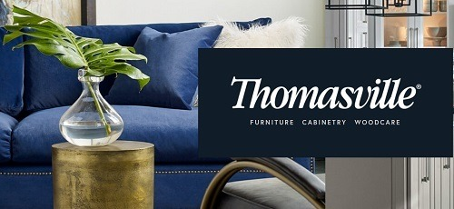 A picture of the Thomasville homepage. Camping World's new furniture line is Thomasville Furniture.