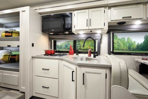 A picture of Thor Motor Coach type c motorhome interior upgrades