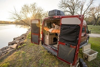 A picture of the Winnebago Solis Pocket unit outside