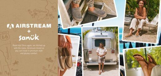 A picture of the Airstream and Sanuk partnership