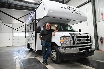 A picture of the East to West Entrada motorhome prototype