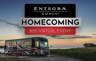 A picture of the promo from Entegra Coach's 2021 Homecoming event