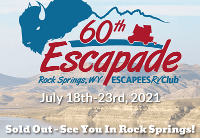 A picture of the Escapees RV Club 60 Escapade event logo