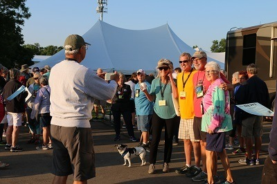 A picture of an FMCA convention outdoor activites