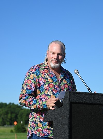 A picture of Wayne Kaylor at Way's groundbreaking event June 17