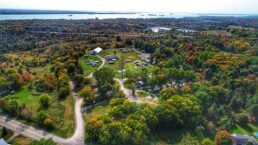 A drone picture of the Happy Green Acres Campground, which was recently bought by Leisure Days RV