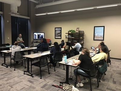 A picture of the Coach-Net staff being trained on Lippert products
