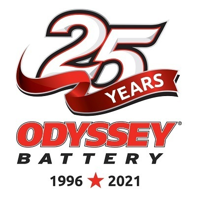 A picture of Odyssey batteries 25th anniversary logo