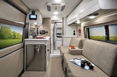 A picture of a TMC type B motorhome interior upgrades