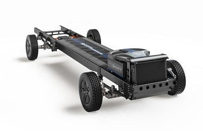A picture of The Shyft Group EV chassis prototype