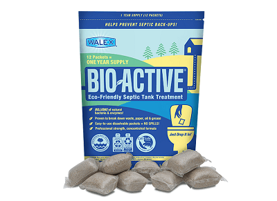 A picture of Walex Bio-Active Septic product in new recyclable packaging