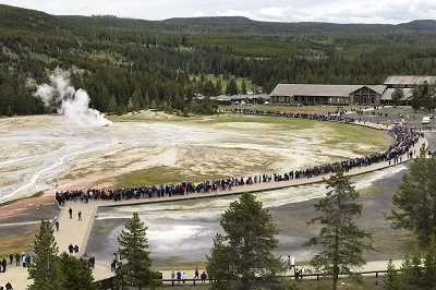 A picture of Yellowstone Old Faithful