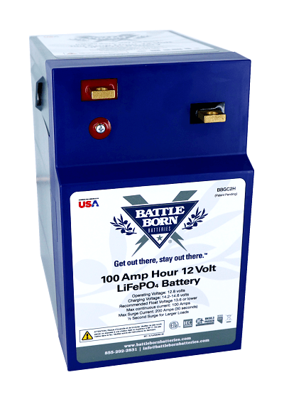 A picture of Battle Born Batteries' heated GC2 battery