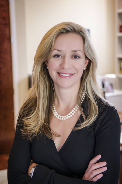 A picture of TRG CEO Kathryn Thompson, color version