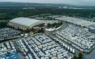 An aerial overview picture of the PRVCA annual Hershey trade show