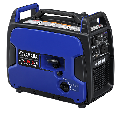 A picture of the new Yamaha Inverter Generator EF2200iS with a carbon monoxide sensor.