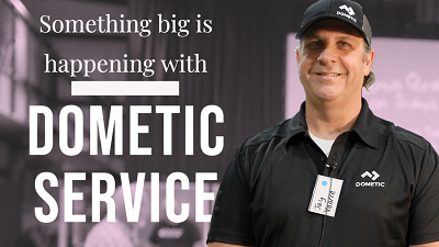 A picture of Dometic Service announcing a new pilot program launch