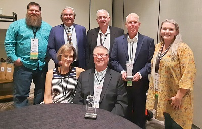 A picture of the Champion Award winners for 2021 presented by the NRVTA training academy in Texas.